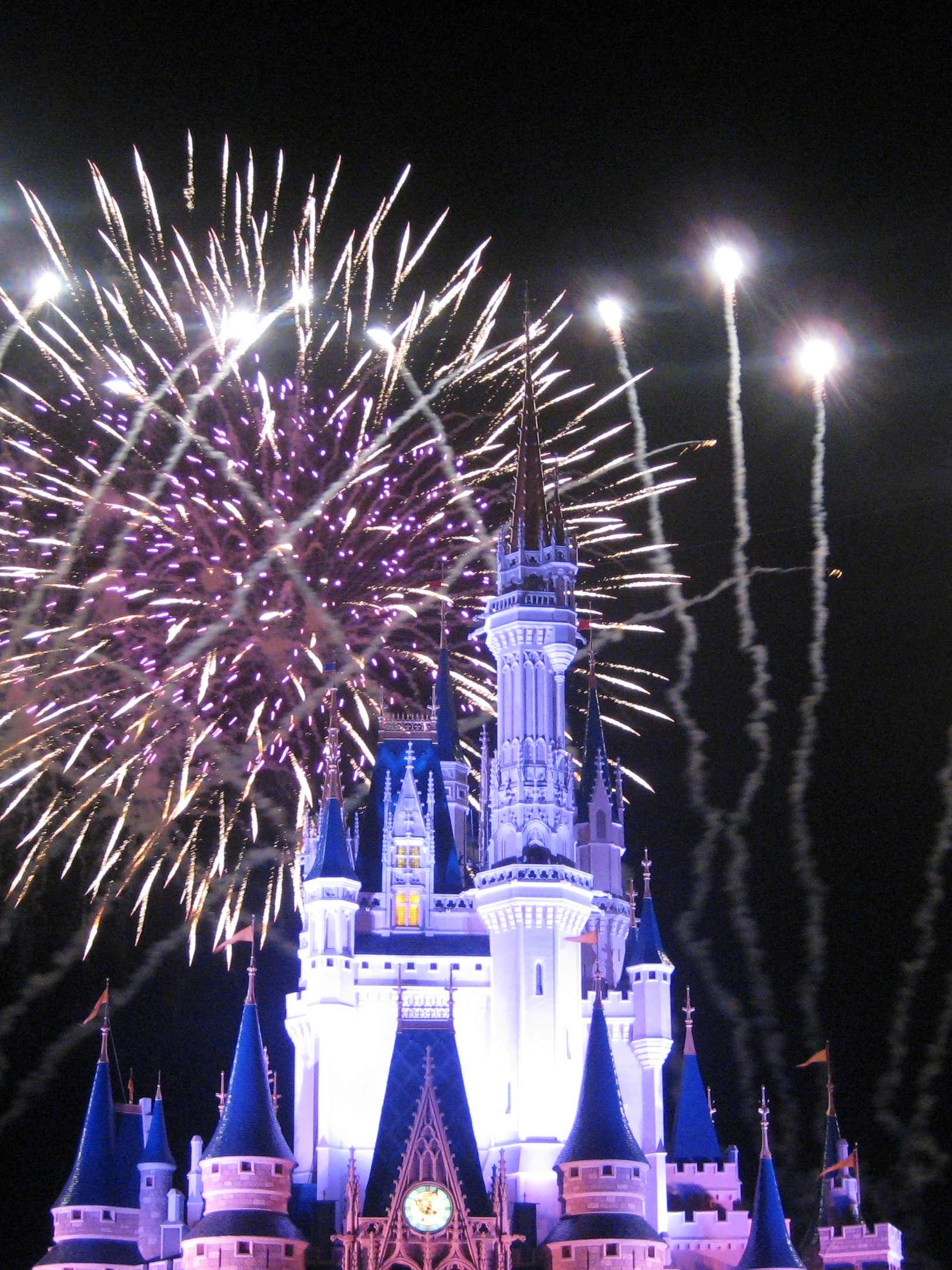 magic kingdom castle fireworks