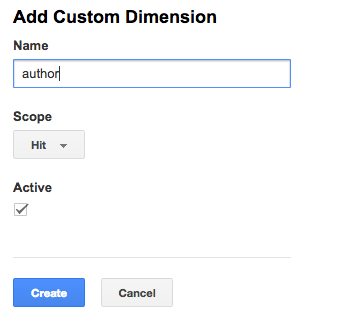 google analytics add custom dimension